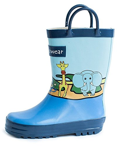 Oakiwear Kids Rubber Rain Boots (1 US Big Kid, Safari)