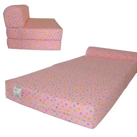 Amazon.com: Lunares rosa silla plegable cama de espuma de ...