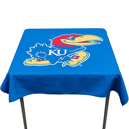 College Flags and Banners Co. Kansas Jayhawks Logo Tablecloth or Table ()