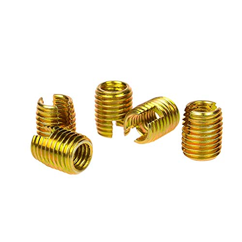 Self Tapping Thread Insert Ochoos 20pcs M40.78 L 302 Slotted Type Screw Bushing M4 Steel with Zinc Wire Thread Repair Insert