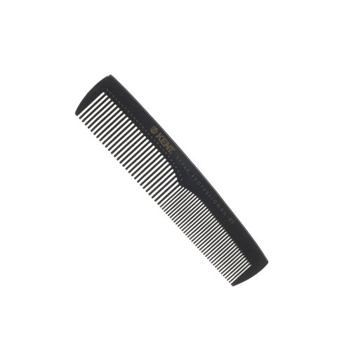 Kent Style Professional Combs (Black) - Hard Rubber, Anti-static, Unbreakable & Heat Resistant - Salon & Barber Quality (SPC85)