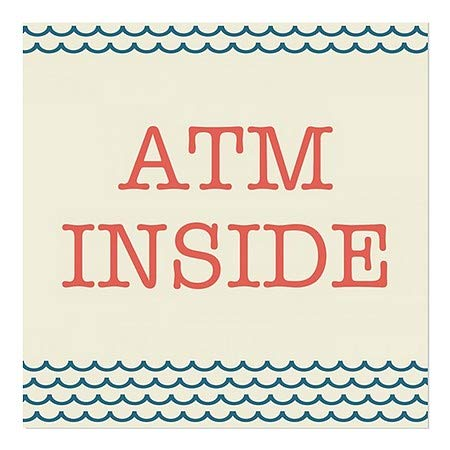 24x24 ATM Inside Nautical Wave Window Cling 5-Pack CGSignLab