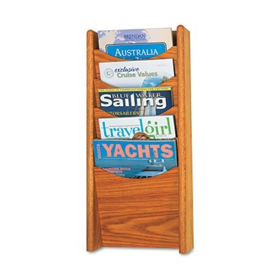 Safco Solid Wood Wall-Mount Literature Display Rack by Safco