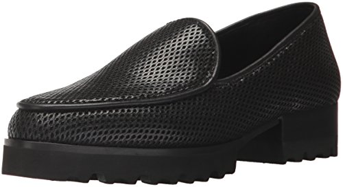 Donald J Pliner Women's Elen Loafer, Black Perforated, 8.5 M US