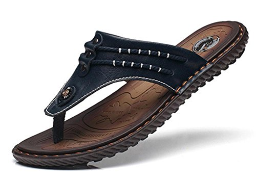 2017verano nueva hombres de Cool Zapatillas carpeta de cuero palabra Toe zapatillas 2