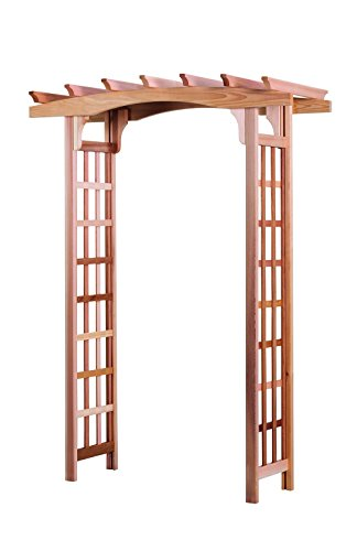 Cheap  Arboria Astoria Garden Arbor Cedar Wood Over 7ft High Pergola Design With..