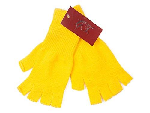 Gravity Threads Unisex Warm Half Finger Stretchy Knit Gloves, -