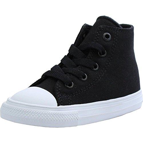 Converse Chuck Taylor All Star II Hi Black Textile 4 M US Infant