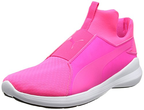 Puma Women's Rebel Mid WNS Low-Top Sneakers, Multicoloured Pink (Knockout Pink-knockout Pink-puma White 03)