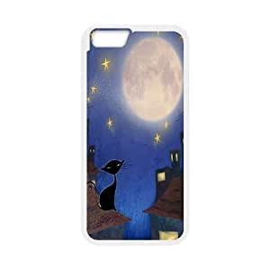 Custom Colorful Case for Iphone4s Cat, Sun and Moon Cover Case - HL-506029