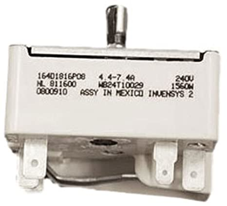 GE WB24T10029 Burner Infinite Switch for Stove on