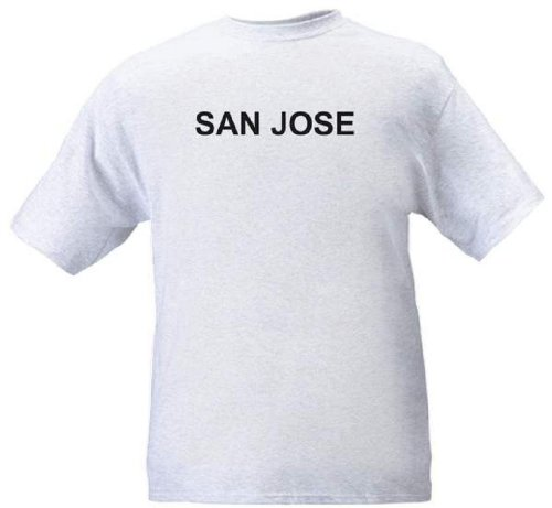 SAN JOSE - City-series - Heather grey T-shirt - size (Party City Cupertino)