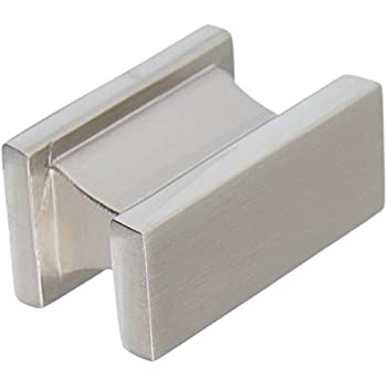 brushed nickel cabinet knob by southern hills rectangle satin nickel pack of 5