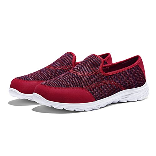 Zapatillas de JRenok Mujer Lona Atletismo Rojo de dpx1xU