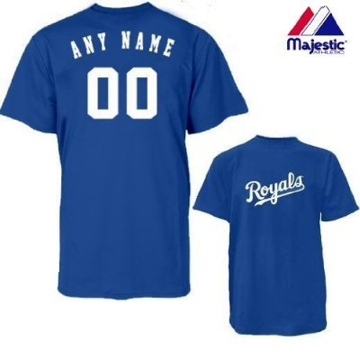 Kansas City Royals Personalized Custom (Add Name   Number) ADULT 2XL 100%  Cotton 05adb3344