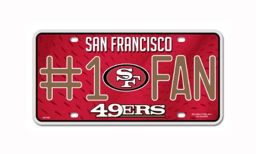 NFL San Francisco 49ers #1 Fan Metal Auto - Francisco Outlet Mall San