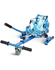 """ECOXTREM Hoverkart, Asiento Kart, Azul diseño Militar, con manillares Laterales, Barra Ajustable. Accesorio para patinetes eléctricos Hoverboard 6'5"""", 8"""" y 10"""" para Paseos más cómodos."""
