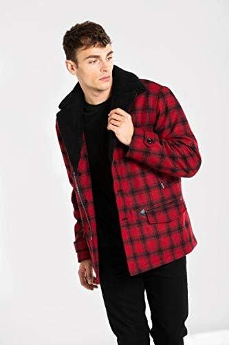 Kurt Lumberjack Coat-Black/Red-M