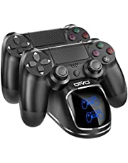 OIVO PS4 Controller Charging Dock Station For Play Station 4 Dual Charger Stand with Status Display Screen for PS4PS4 SlimPS4 Pro