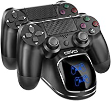 PS4 Controller Charger, OIVO Dualshock 4 Controller USB Charging Station Dock with LED Light Indicators, Playstation 4...