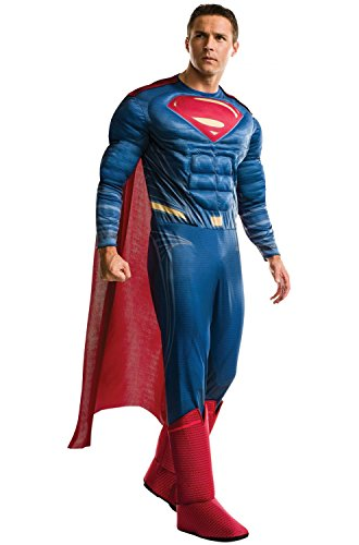 Men Halloween Costumes Simple (Rubie's Costume Co. Men's Superman Adult Deluxe Costume, As Shown, X-Large)