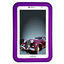 """Bobj Rugged Case for Samsung 7-inch Galaxy Tab 2 and Galaxy """"Tab Plus"""" Wi-Fi and 3G/4G Models (Not for Tab3) - BobjGear Protective Tablet Cover - Playful Purple"""