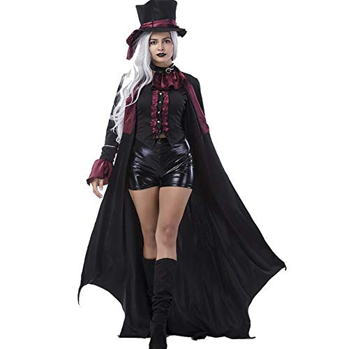 SHANGXIAN Adult Vampire Costumes Women Mens Halloween Party Vampiro Couple Cosplay Fancy Outfit Clothing Dresses,Women,XL ()