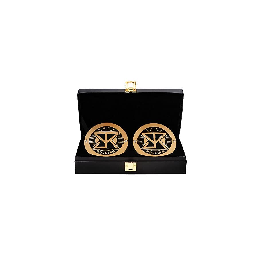WWE Seth Rollins World Heavyweight Championship Replica Title Belt Side Plate Box Set Black