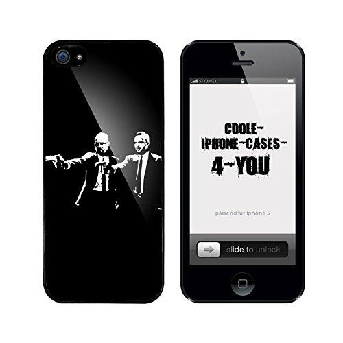 Iphone 5 / 5S Schutzhülle 2 Killers Walter and Jesse - schwarzer Rahmen