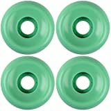 USA Made Blank Skateboard Wheels 55mm Teal Conical (Set of 4)