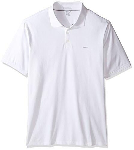 Calvin Klein Mens Tall Liquid Cotton Polo  White  2X Large Big