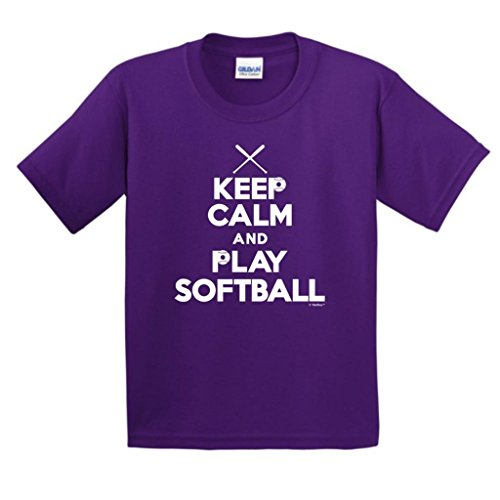 Derek Jeter Replica Baseball Jersey (Keep Calm and Play Softball Youth T-Shirt Large Purple)
