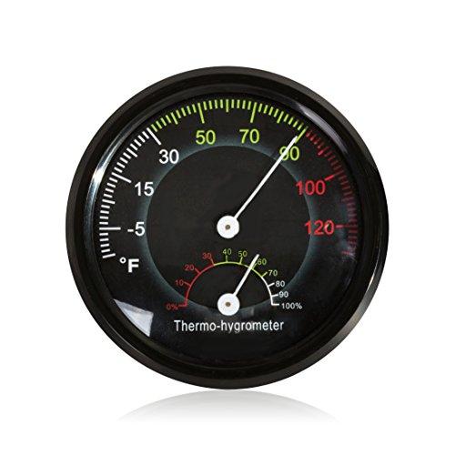 Price comparison product image REPTI ZOO Reptile Terrarium Thermometer Hygrometer, Dial Gauges Pet Rearing Box Thermometer Hygrometer