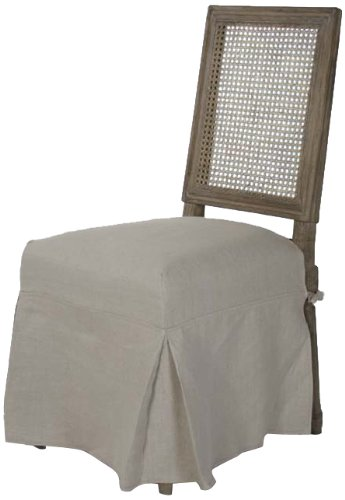 Zentique FC010-4-Cane E272 A003 skirt Louis Cane Back Side Chair with (Louis Side Chair)