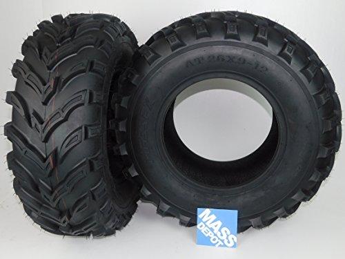 New MASSFX MS ATV/UTV Tires 26 x9-12 Front, Set of 2 26x9x12 26x9/12 by MASSFX