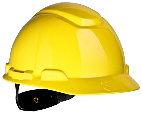 3M Hard Hat, Yellow 4-Point Ratchet Suspension H-702R (Pack of 1)