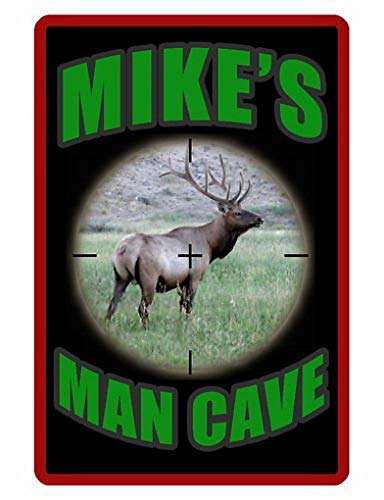 Dozili Personalized Metal Signs Man Cave Sign Printed with Your Name Elk Design 8