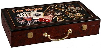 Las Vegs Wooden Wooden Poker Chip Case - Hold 300 Chips by Las Vegas Poker Chips
