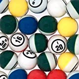 Official Professional-Use Ping Pong Bingo Balls for Electronic Bingo Blowers or Manual Bingo Cages, Multi-Color Coated Single Number Ping Pong Ball Set by Mr. Chips, Inc
