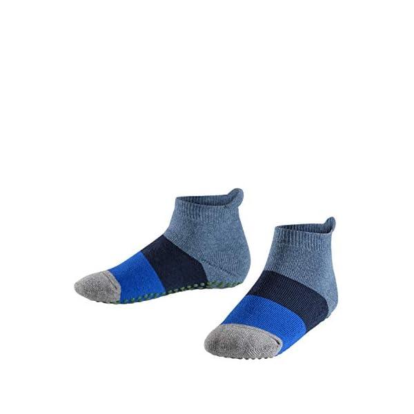 41ZwXoSSSHL. SS600 - FALKE Kinder Catspads Colour Block - 90% Baumwolle, 1 Paar, versch. Farben, Größe 19-42 - Wärmender Stopppersocken mit Silikondruck und innenliegendem Plüsch
