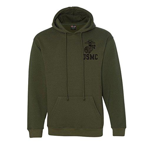 (eMarinepx Eagle Globe and Anchor w/USMC Hooded Sweatshirt)