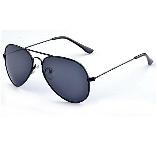 VL Men Aluminum Polarized Sunglasses Classic Brand Sunglasses EMI Defending Coating Lens Driving Shades Color Black box black gray - Polarised Sheet