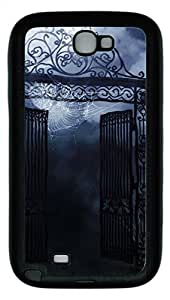 Samsung Galaxy Note II N7100 Cases & Covers - Spooky Gates Custom TPU Soft Case Cover Protector for Samsung Galaxy Note II N7100 - Black
