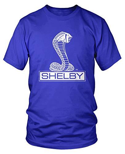 - Amdesco Men's Shelby Cobra Logo T-Shirt, Royal Blue Small