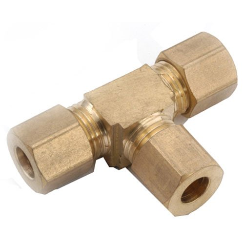 Brass Cmp Tee - anderson metals corp 750064-03 3/16 -Inch, Brass, Compression Tee