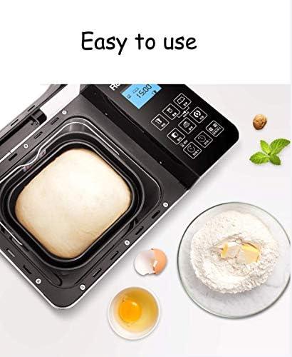 12-en-1 automático programable Máquina de hacer pan, pan Máquina automática con pantalla LCD, 15 h Tiempo de retardo 1H Mantener caliente, apto for lavavajillas Pan panificadora RVTYR