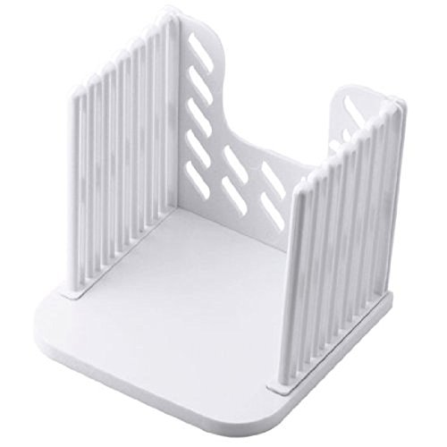 Generic eB-01 Kitchen Pro Bread Loaf Slicer Slicing Cutter Cutting Cuts Even Slices Guide Tool, White