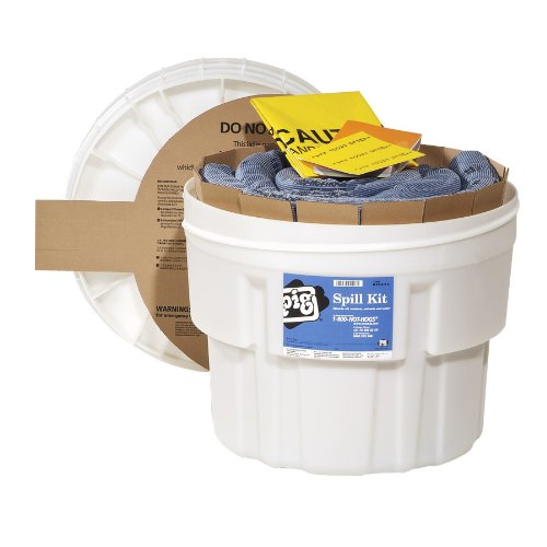 New Pig KIT211 33 Piece Spill Kit in 20 Gallon Overpack Salvage Drum, 12 Gallon Absorbency ()