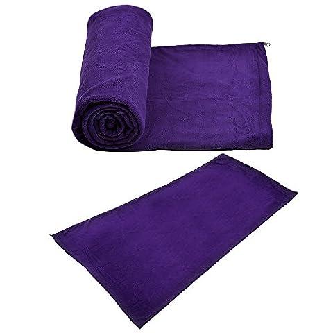 Besteam Ultra-Light Cool Weather Fleece Sleeping Bag Liner Camping Envelope Sleeping Bag Slumber Bags for 3 Seasons (Spring, Summer, Fall) (Romantic Purple)