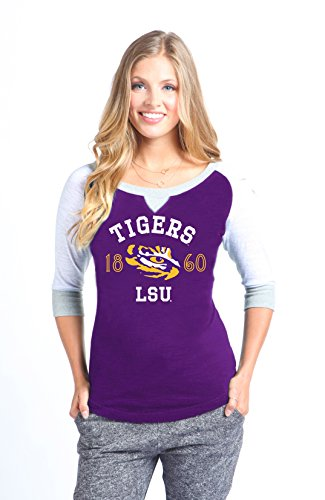Lsu Tigers Purple Block (NCAA LSU Tigers Color Block Baseball Tee, X-Small, Purple)